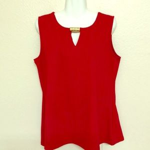 Ava & Grace red tunic with gold accent sz XL